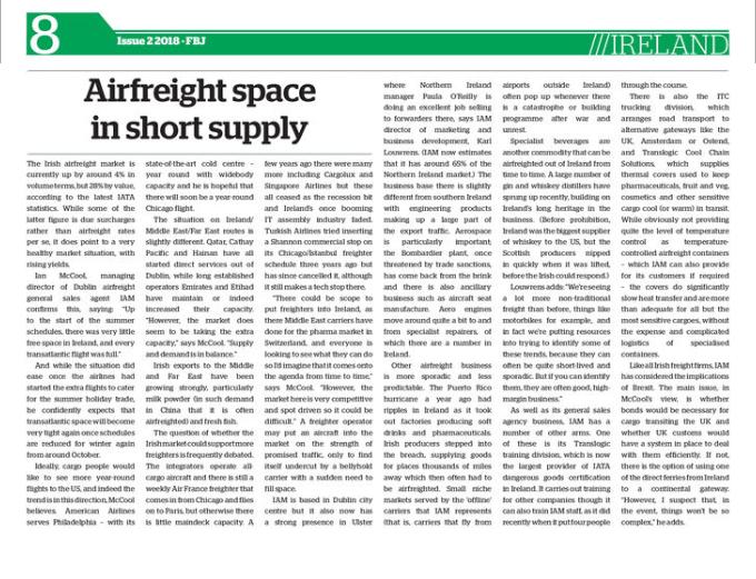 FBJ Issue 7 - Article on Irish Market